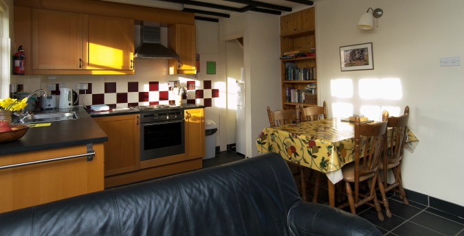 Kichen of Spring Cottage - a pet free holiday cottage at Rosemoor, Pembrokeshire, South West Wales
