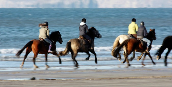 Horse riding Druistone beach