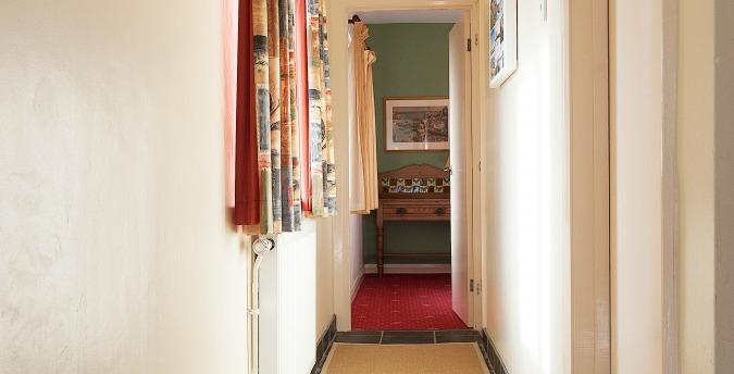 Hallway of First Cottage - a pet free holiday cottage at Rosemoor in Pembrokeshire, South West Wales