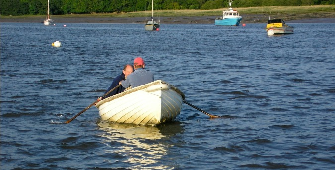Rowing on the Cleddau