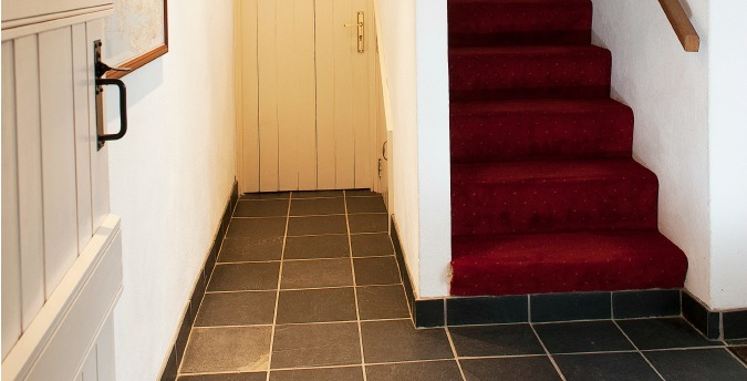 Hallway of Peace Cottage - a pet friendly holiday cottage at Rosemoor in Pembrokeshire, South West Wales