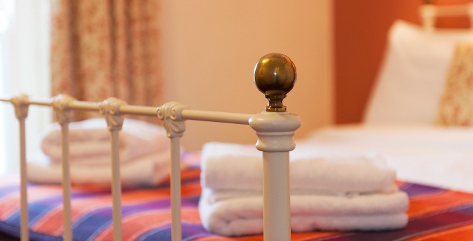 Double bedroom detail, Gardener's Cottage - a pet friendly holiday cottage at Rosemoor, Pembrokeshire, South West Wales