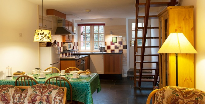 Kitchen, Gardener's Cottage - a pet friendly holiday cottage at Rosemoor, Pembrokeshire, South West Wales
