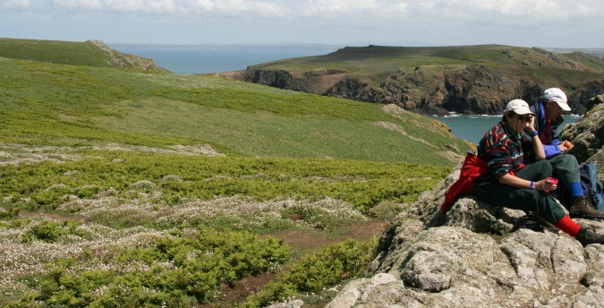 Walkers taking a breather on Skomer Island