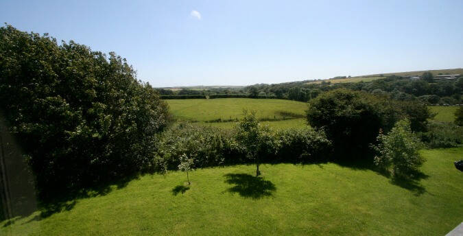 Rosemoor holiday cottages, Pembrokeshire, South West Wales - view from Peace Cottage bedroom
