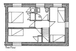 Plan of Orchard Cottage First Floor
