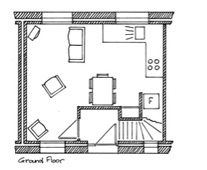 Plan of Orchard Cottage Ground Floor