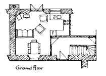Plan of Peace Cottage Ground Floor