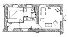 Plan of Rose Cottage