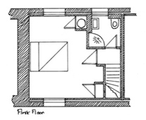 Plan of Spring Cottage First Floor