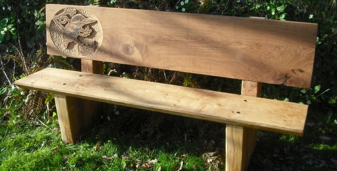 Rosemoor Nature Reserve South West Wales - kingfisher bench