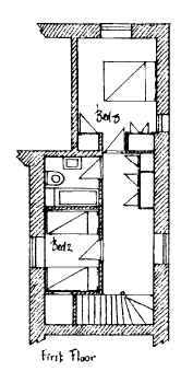 Plan of Apple Cottage First Floor