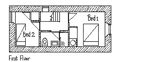 Plan of Gardener's Cottage First Floor