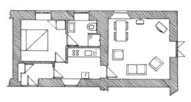 Plan of Rose Cottage