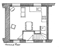 Plan of Spring Cottage Ground Floor